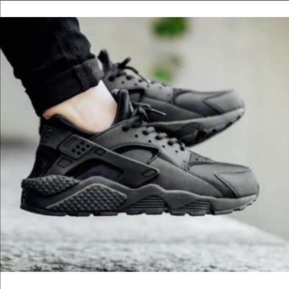 exquisite style arrives new style Nike HUARACHE triple black womens